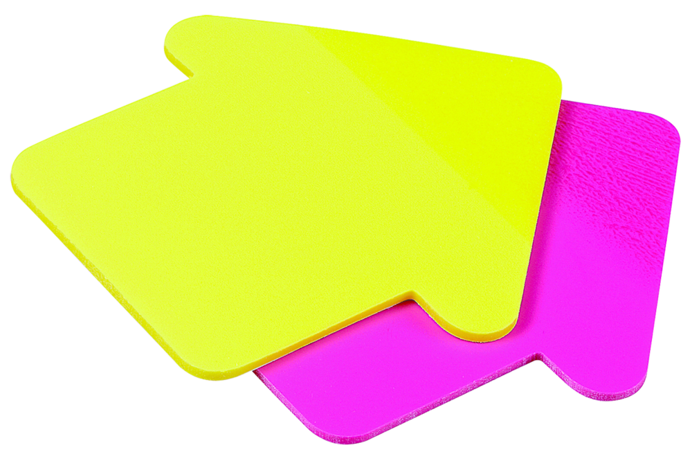Avery see through sticky note pad clipart
