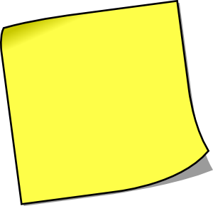 Blank sticky note clip art at vector clip art