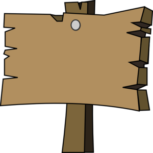 Blank wood sign clip art at vector clip art