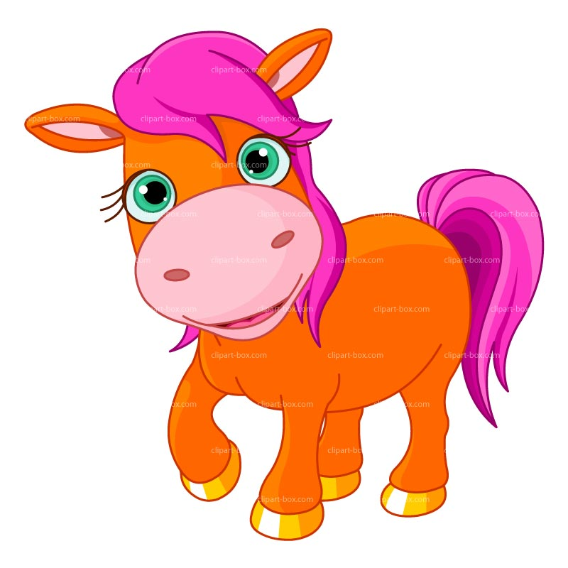 Clipart orange pony cartoon free clipart images