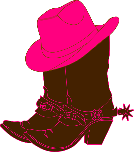 Cowboy boots clip art black and white