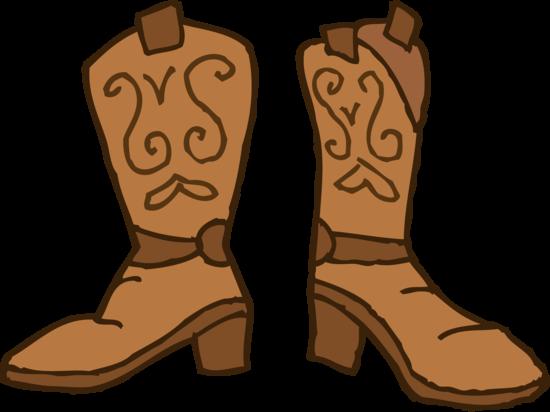 Cowboy boot image comic cowboy clip art