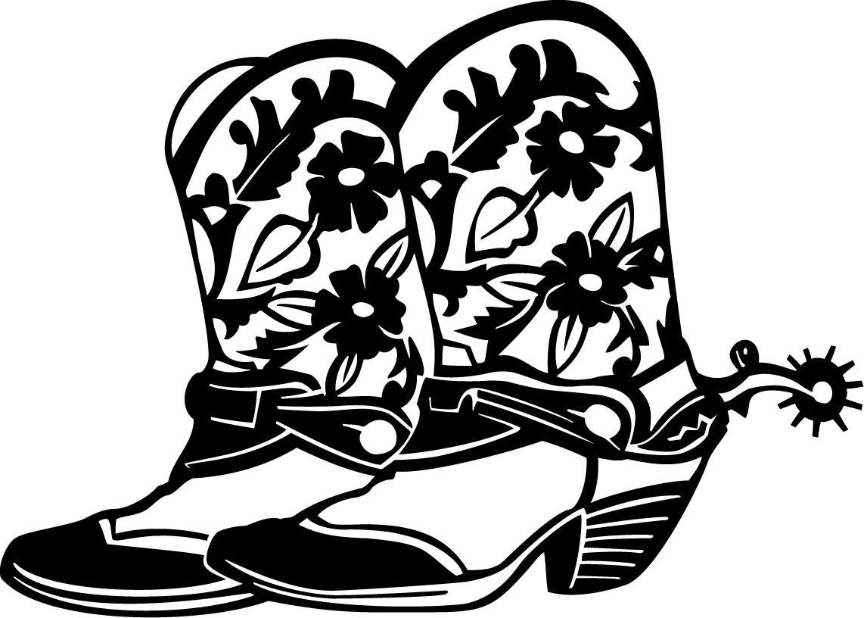 Cowboy boots pictures clipart
