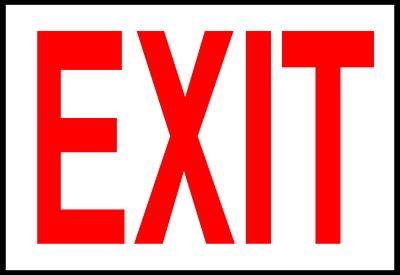 Exit sign clip art clipart
