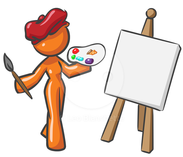 Female artist clipart free clipart images 2