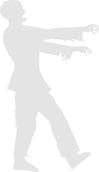 Grey zombie clip art at vector clip art
