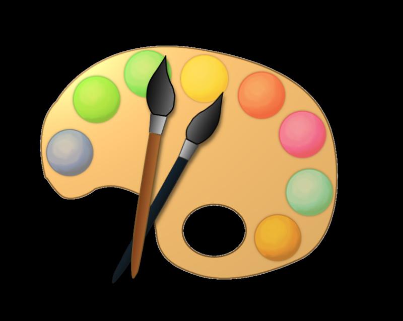 Image artist paint palette clip art