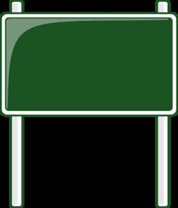Image blank green street sign clip art