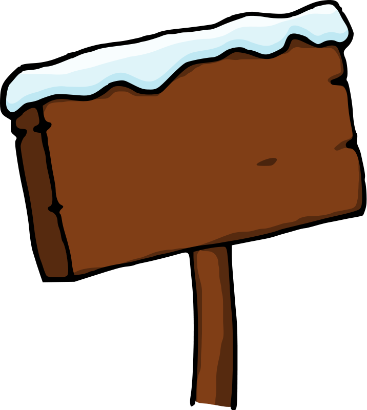 Image clip art of sign post 2