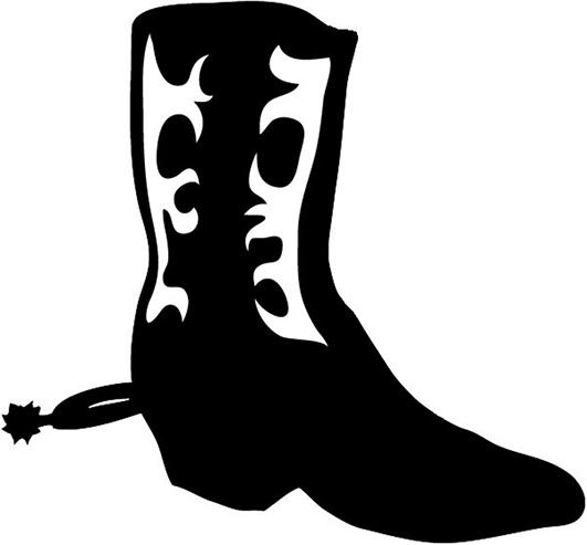 Image cowboy boot silhouette clip art 2