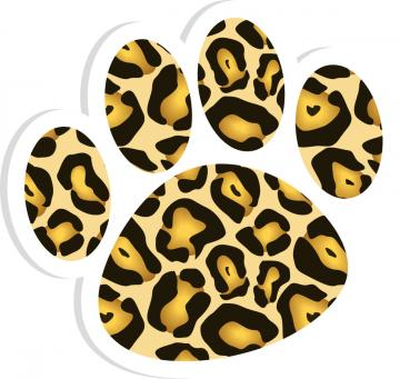 Jaguar paw print clip art