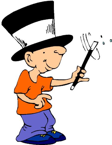 Magician clip art 4