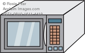 Microwave clip art drawing of a modern free clipart images