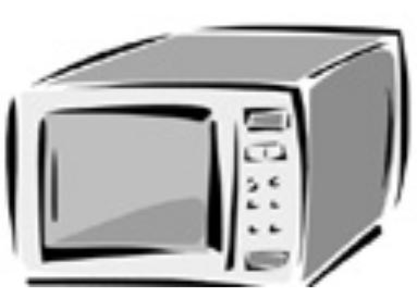 Microwave image vector clip art free