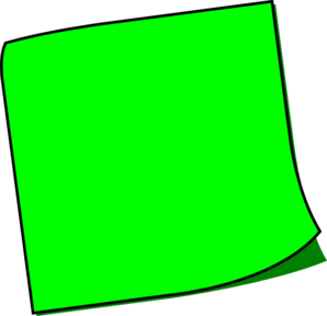 Pic green sticky note clipart