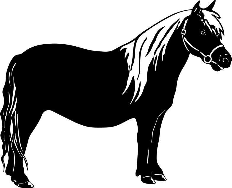 Pony clip art on farm