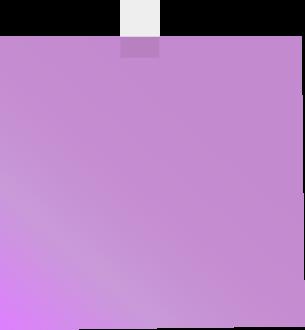 Purple sticky note clip art purple sticky note vector image
