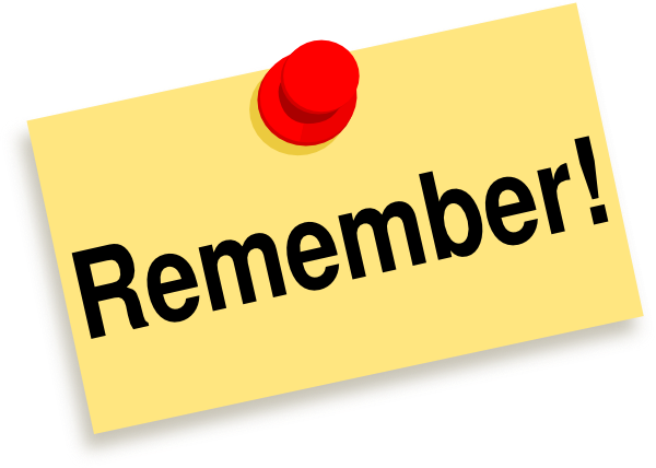 Remember sticky note clip art at vector clip art