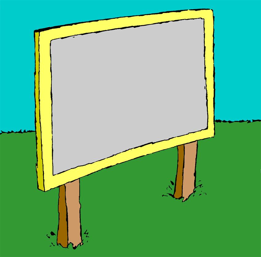 Sign post clip art