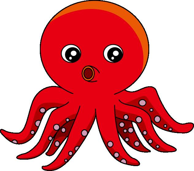 Squid clipart octopus clipart