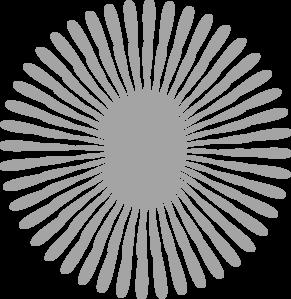 Starburst flower clip art at vector clip art