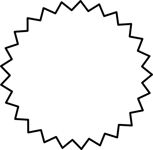 Starburst outline black clip art vector clip art