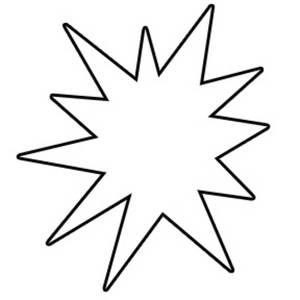 Starburst star clip art outline free clipart images