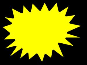 Starburst yellow star burst clip art at vector clip art