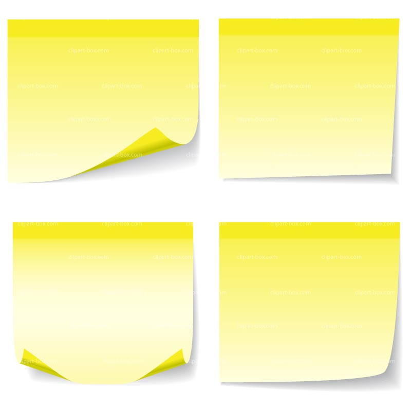 Sticky note clip art images