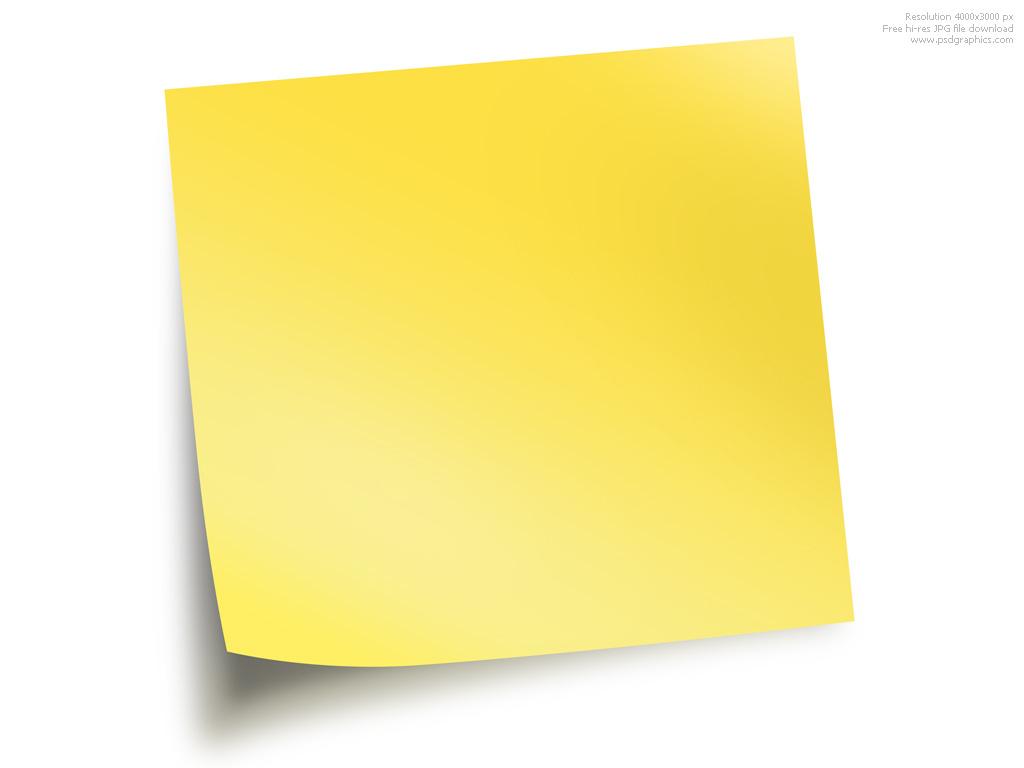 Sticky note clipart 2