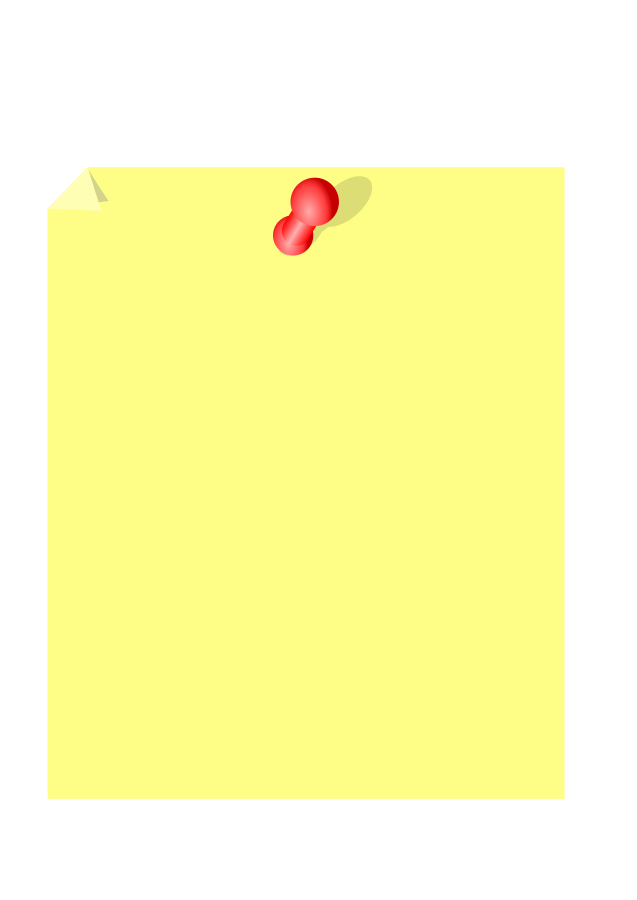 Sticky note clipart vector clip art free design