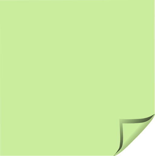 Sticky note green folded corner clipart free