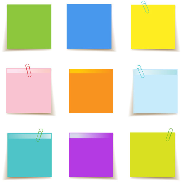 Sticky note images clipart