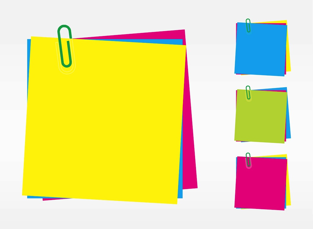 Sticky note pic colorful post it note clip art 2