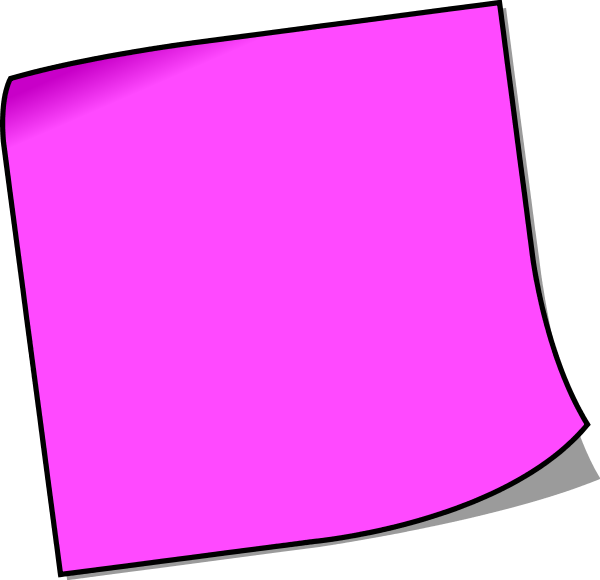 Sticky note pic colorful post it note clip art