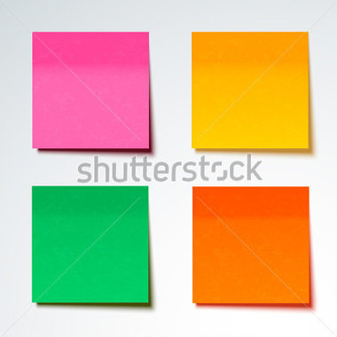Sticky notes vector image clipart