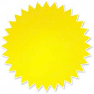 Yellow starburst clipart