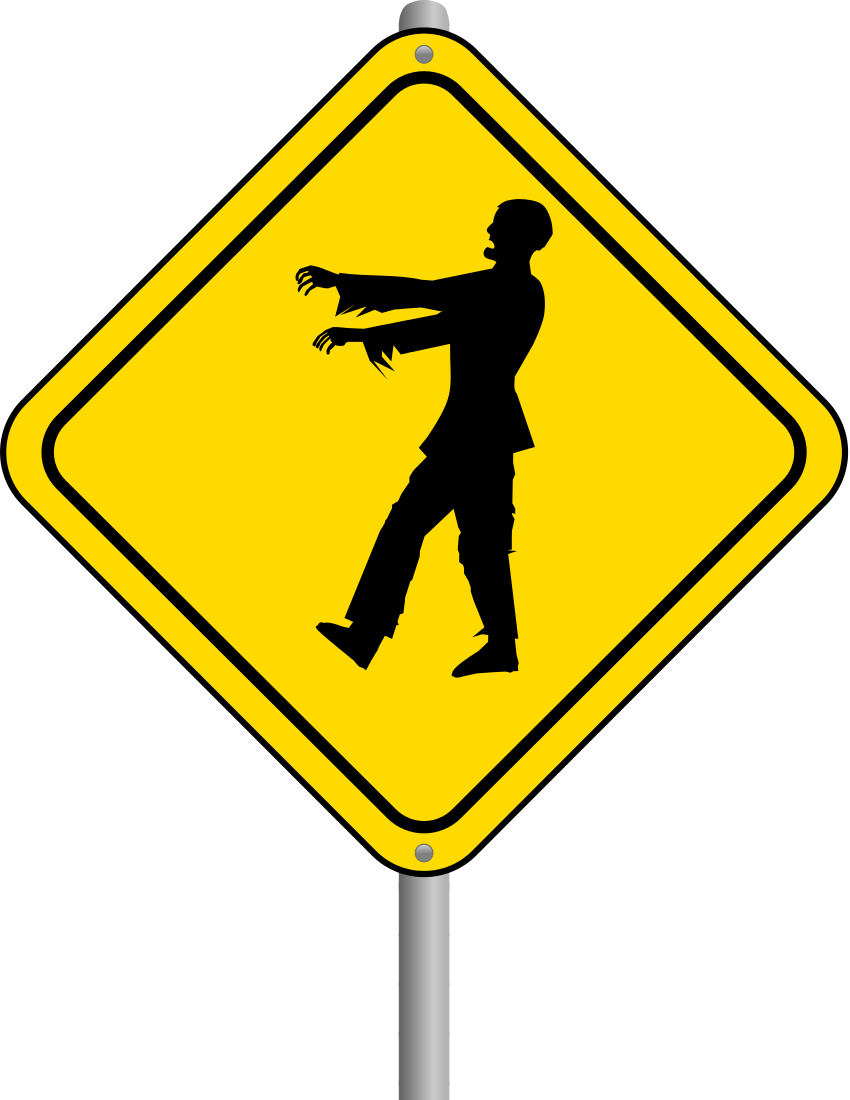 Zombie crossing page free clipart images