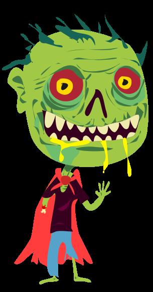 Zombie halloween clip art  2