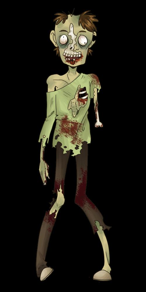 Zombie halloween clip art