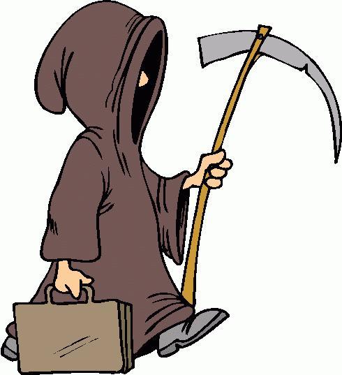 Costume grim reaper clipart the writer