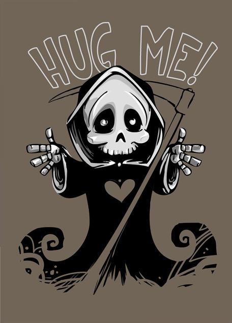 Cute death mascot grim reaper free vector clipart