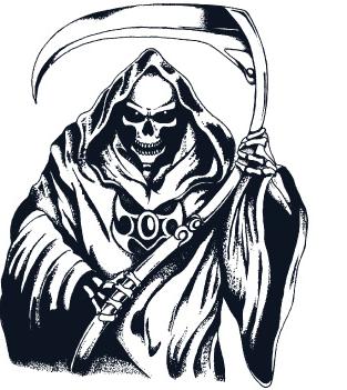 Grim reaper design clipart