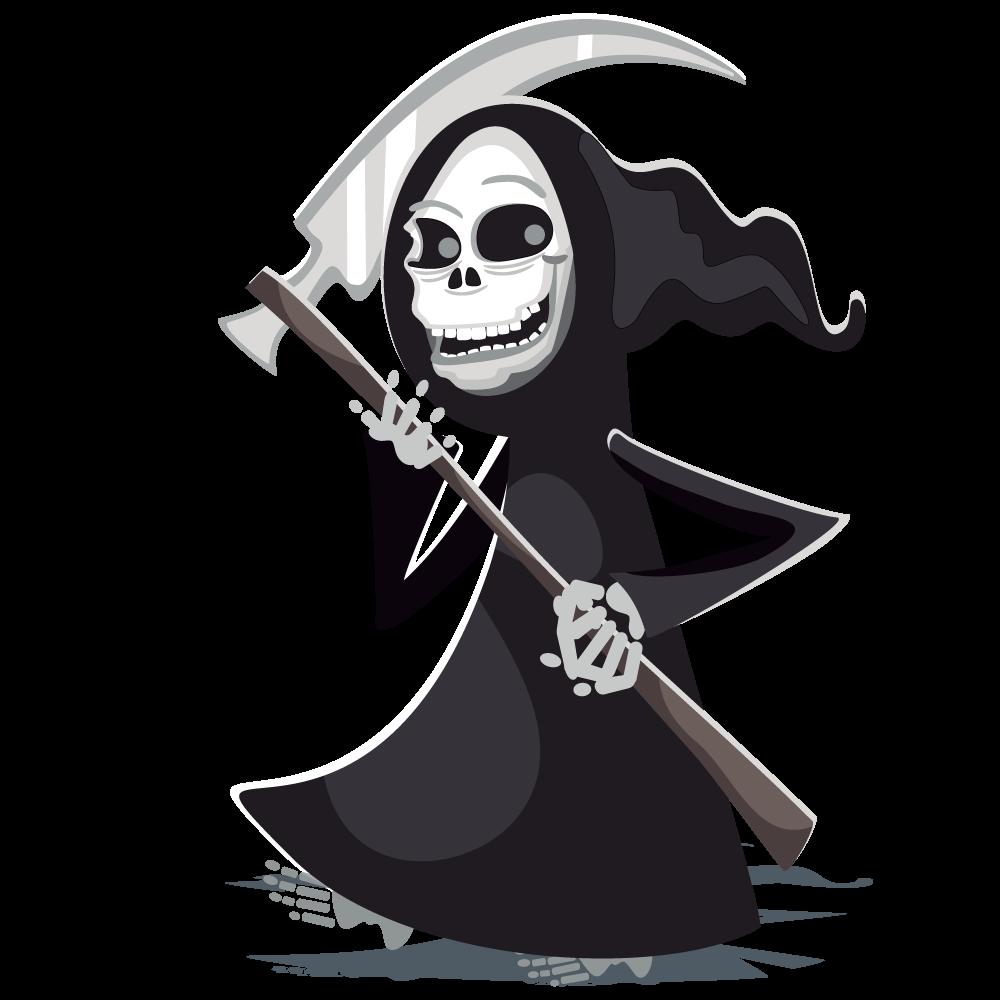 Grim reaper halloween clip art