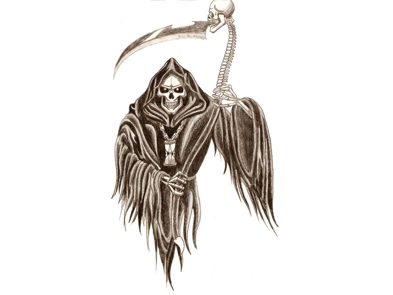 Grim Reaper Clip Art Clipart Image 24150