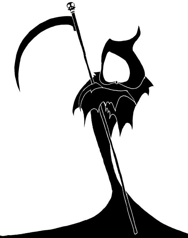 Tribal grim reaper clipart