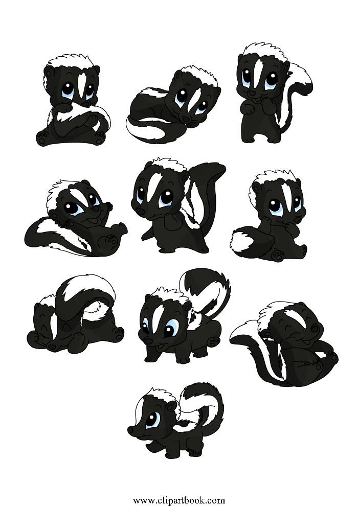baby skunk download free clip art vector image  24562