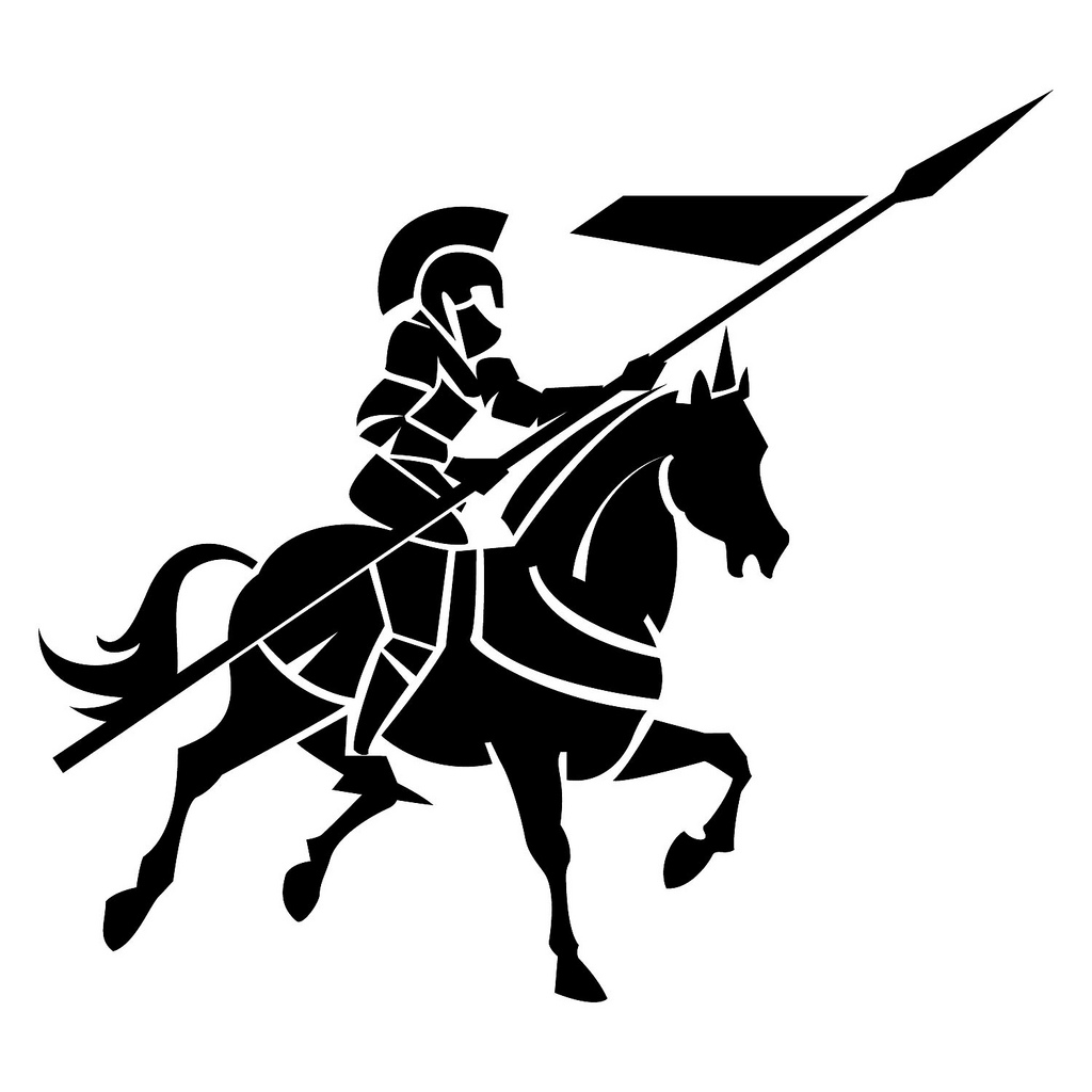 Black knight vector image a free clipart images