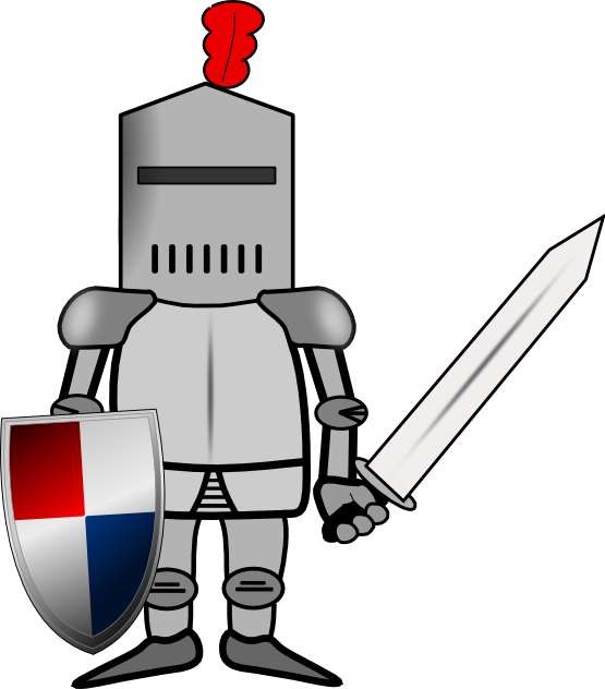 Knight clip art in vector or format free