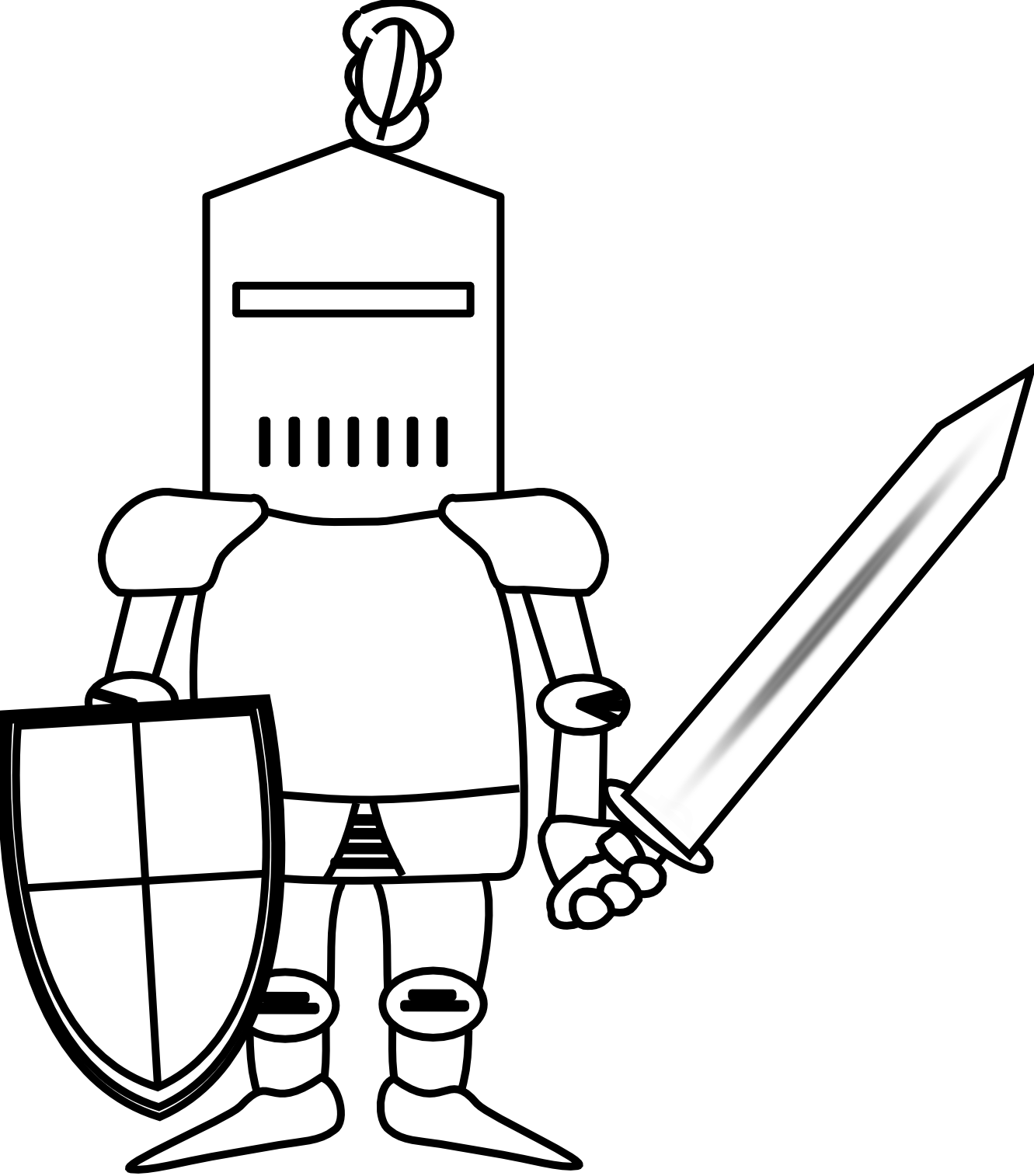 Knight clipart black and white free clipart images